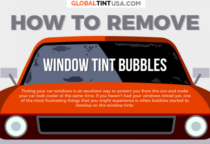 How to Remove Window Tint Bubbles [Infographic]
